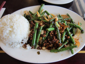 Chow's Green Beans with Minced Pork