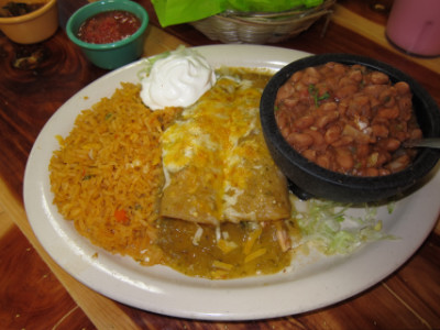 Green enchiladas at Abel's