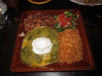 Green chile enchiladas at Green Chile Kitchen