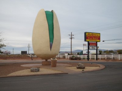 The giant pistachio at McGinn's