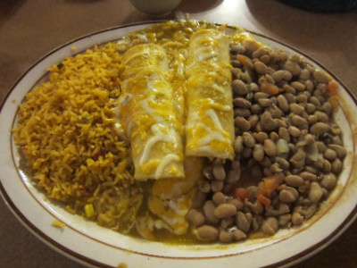 Green enchiladas at San Marcos