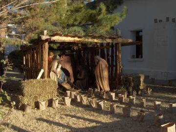 The manger scene