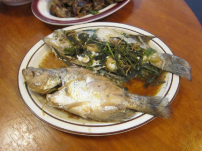 Steamed whole fish symbolizes being able to save the money you make and not having periods of want during the year