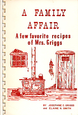 Mrs. Griggs cookbook