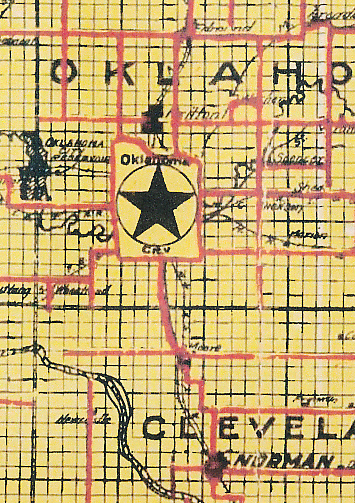 1916 map of Oklahoma