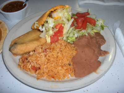 Chile relleno with a gordita
