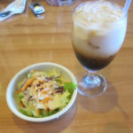 Salad and Thai tea