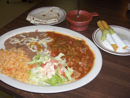 Chile verde and flautas