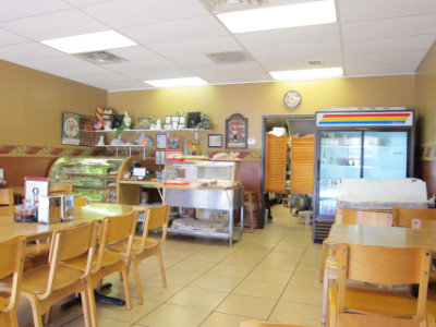 Interior of Lang's bakery