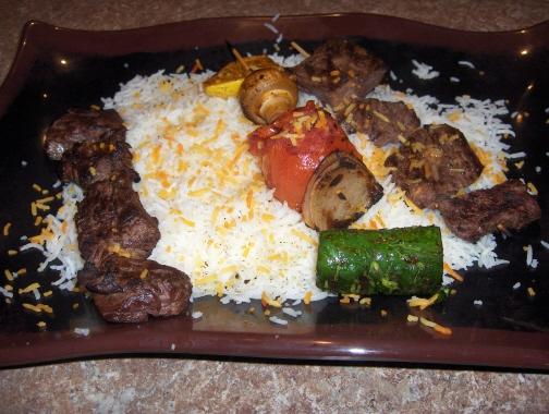 Shish kabob platter