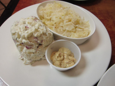 Potato salad and sauerkraut