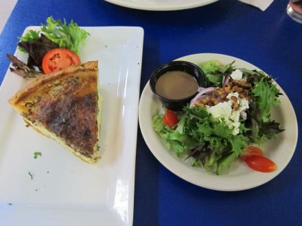 Quiche with side salad