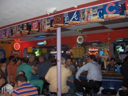 The bar at L & J