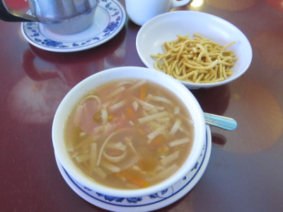 Soup served with lunch specials