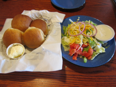 Salad and rolls