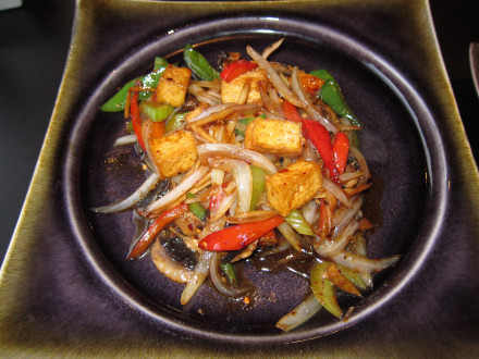 Ginger stir fry with tofu