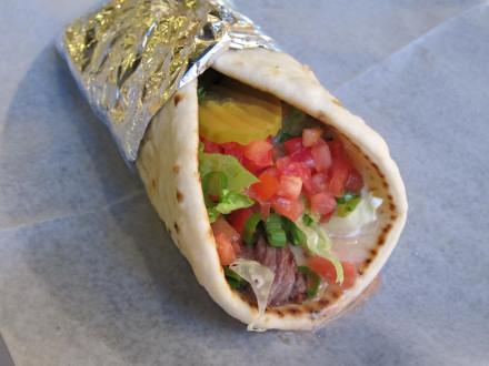 Lamb kabob sandwich