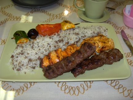Tawook and keftah skewers