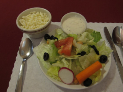 Salad with cheese added by special request
