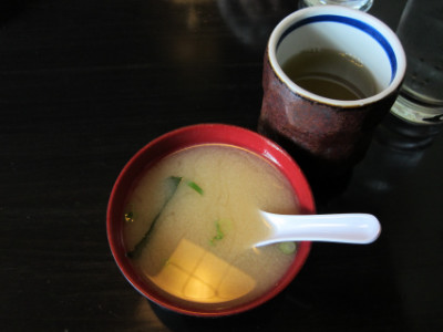 Miso and tea