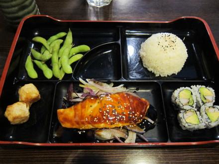 Salmon teriyaki lunch