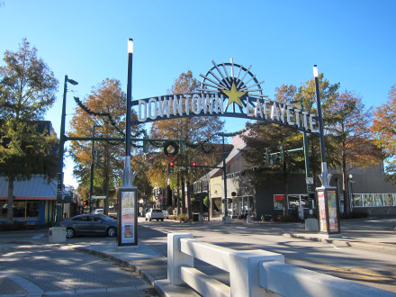 Entranceway to downtown