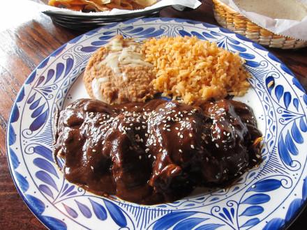 Chicken mole dinner