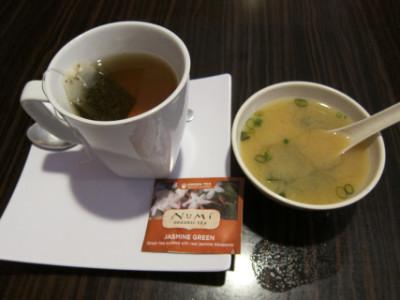 Miso and hot tea