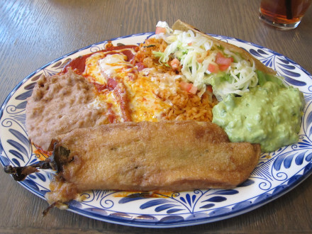 Corona Mexican plate