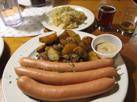 Frankfurters from the sausage sampler