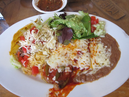 Mexican plate with chile relleno