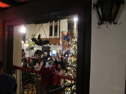 The inside courtyard frequently hosts large parties