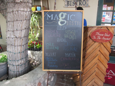 The daily blackboard menu