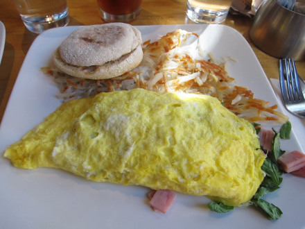 Frisco omelet with fixings