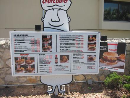 The drive-through menu
