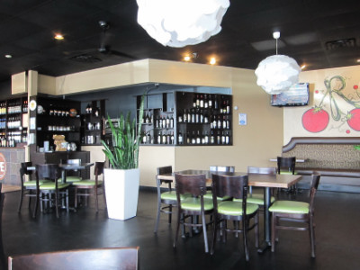 Ripe's modern interior with a large wine selection
