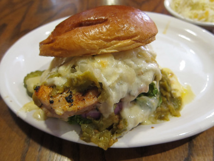 Chicken tampiquena sandwich