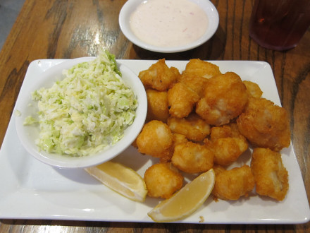 Beer battered fish bites