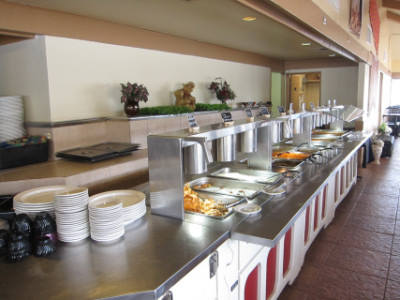 The buffet at India Hut