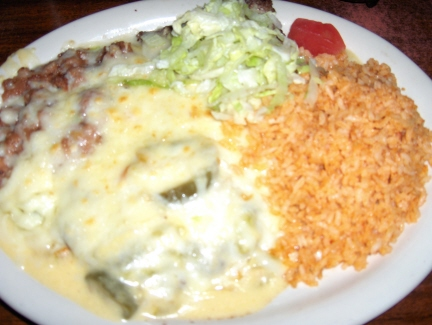 Hamburger steak con queso