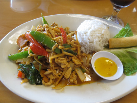 Spicy bamboo with chicken