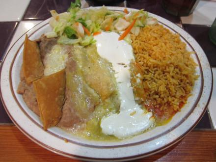 Tri-color enchiladas
