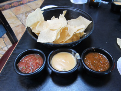 Chips and salsa are complimentary