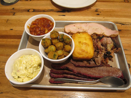 Three meat tray