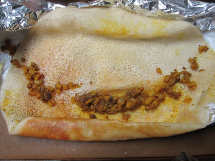 The masala dosa unrolled