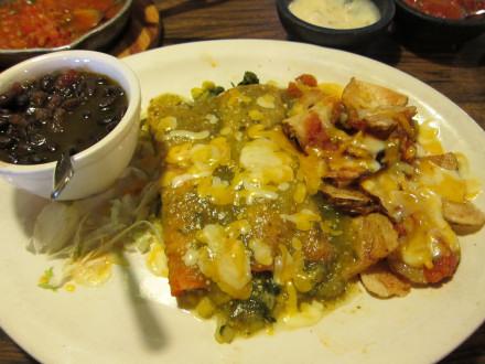 Enchiladas de rajas from the N.W. 63rd St. location