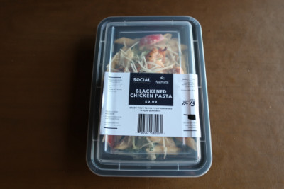 Blackened chicken pasta in the package