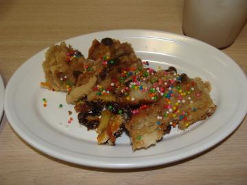 Capirotada served on Fridays during Lent