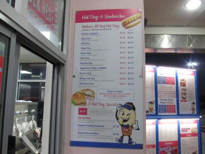 Caliche's menu includes custard, hot dogs, and sandwiches