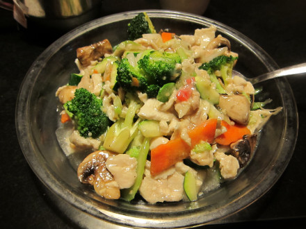Assorted vegetable with chicken